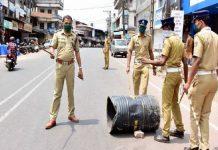 Ponnani police in triple lockdown period