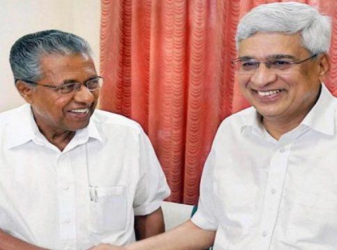 Pinarayi Vijayan and Prakash karat