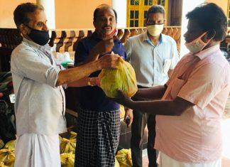 Naithalloor Congress Onam vegetable kit distribution