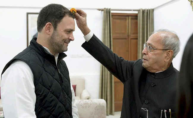 Rahul Gandhi And Pranab Mukherjee _Malabar News