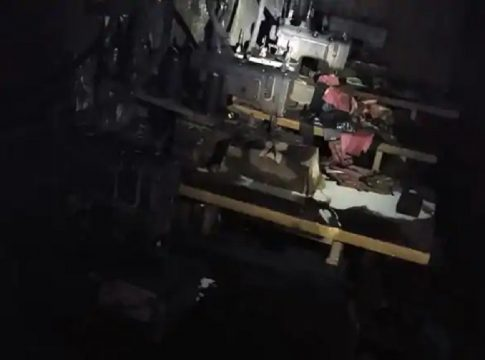 Fire Breaks Out At Mask Manufacturing Unit