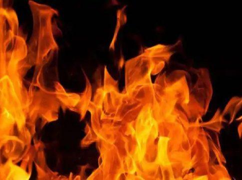 home set on fire