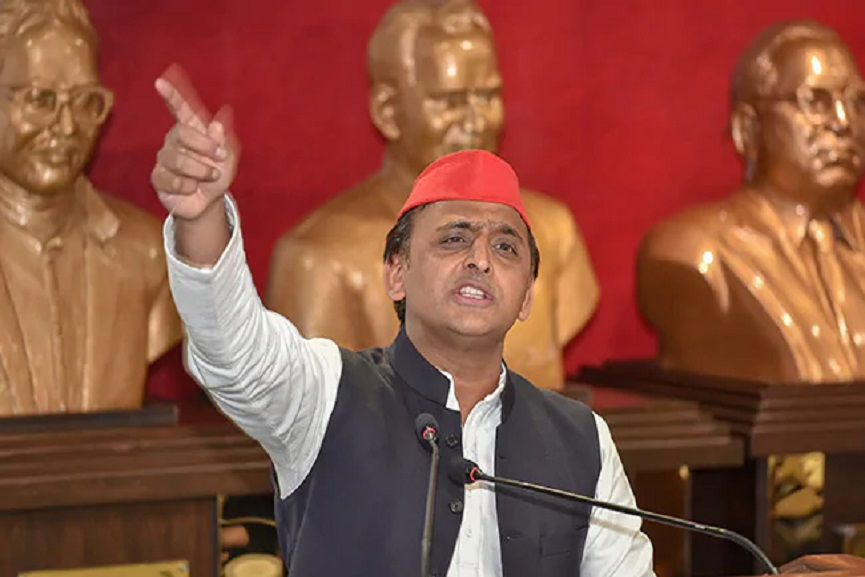 Public outrage prompted the Center to change its vaccine policy; Akhilesh Yadav