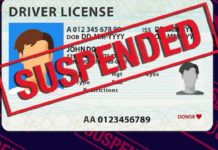 driving licence suspended