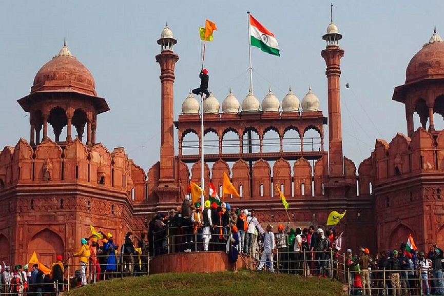 red fort protest