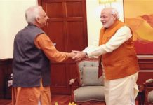 Sri M With Narendra Modi