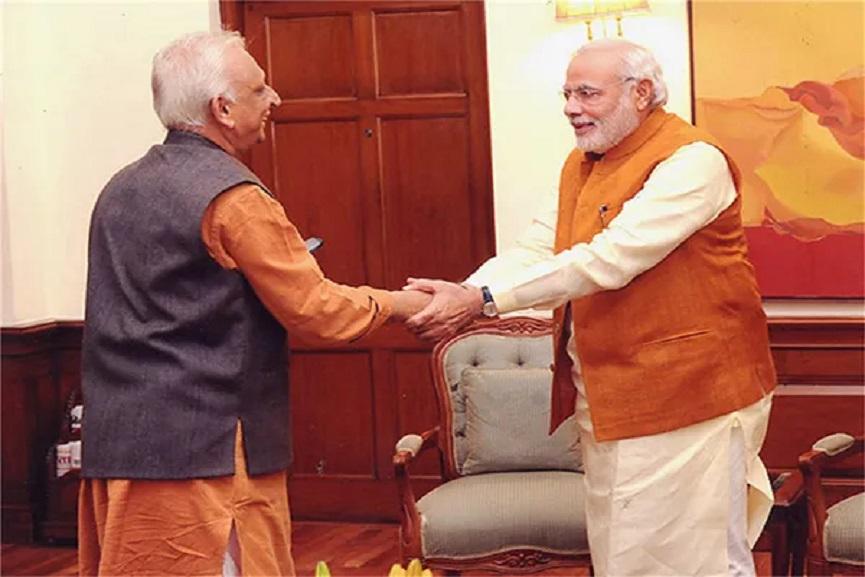 Sri M With Narendra Modi