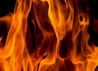 caught fire