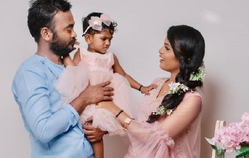 Appani Sarath with Wife Reshma and Daughter Thayamma