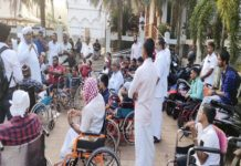 Differently Abled persons Meeting At Ma'din Academy
