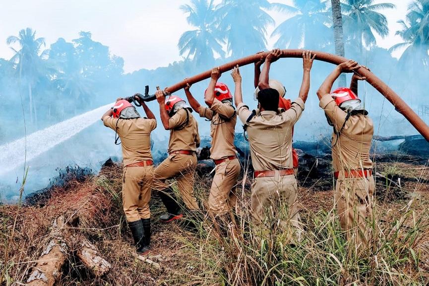 Nilambur Munderi seed farm fire; Firefighters put out the blaze