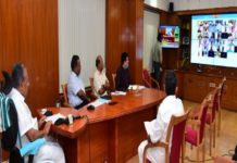 Pinarayi Vijayan in Online Meeting