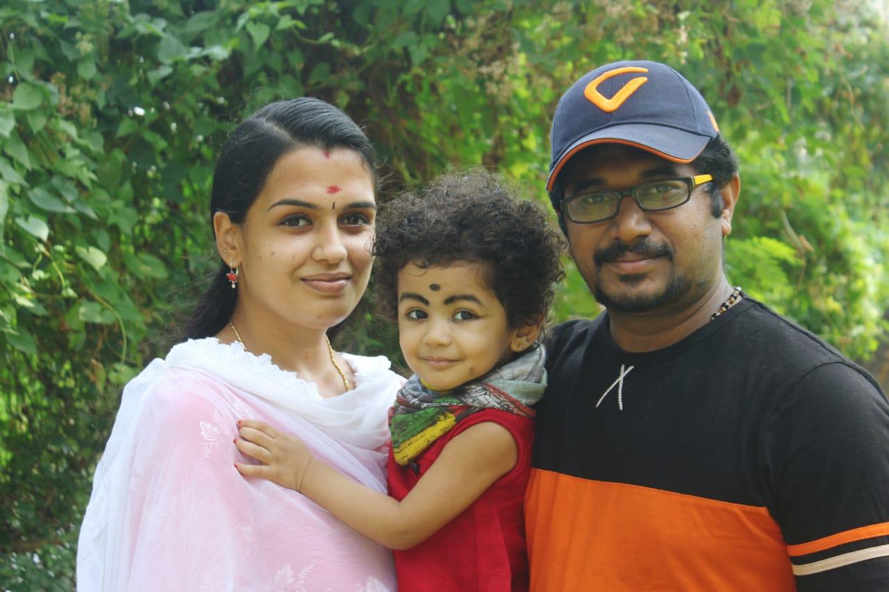 Sreeshma r Menon with Her Husband And Child