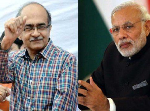 Prashant-Bhushan-and-Narendra-Modi