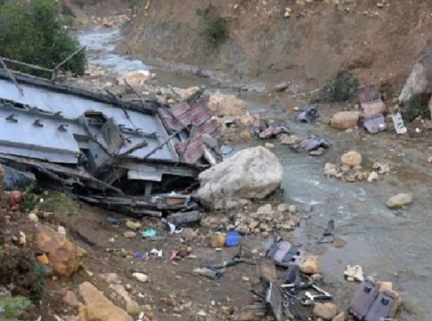 Bus accident in Pakistan; 20 killed and 40 injured