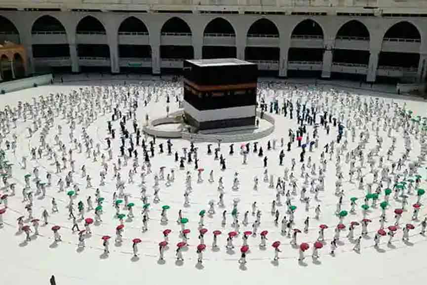 Hajj; Permission and opportunity for 60,000 people living in Saudi Arabia only