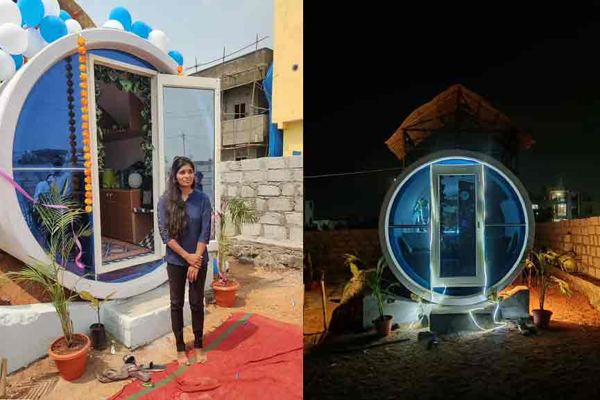 This pipe is enough not only to drain the sewage, but also to prepare the house; Young woman with a different idea