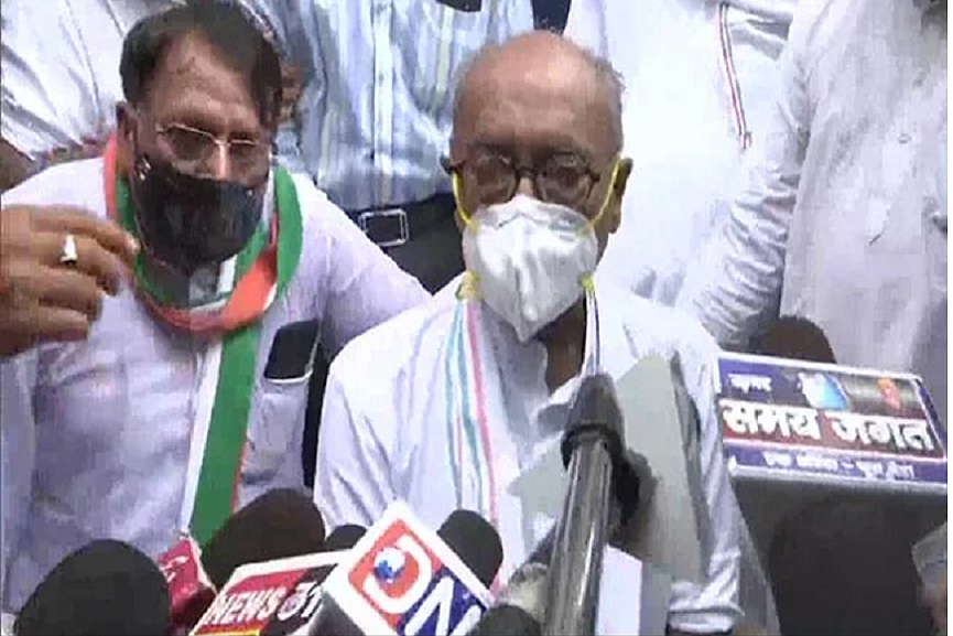Protested fuel prices; Case against Digvijaya Singh