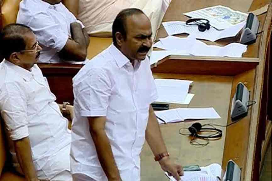 The question of the ruling party MLA was full of criticism; The opposition walked out of the assembly