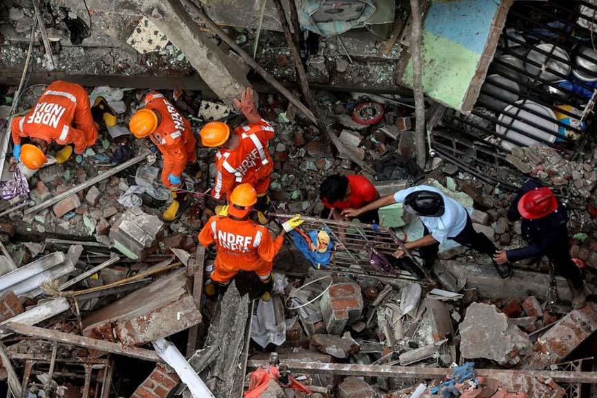 building collapses in Mumbai 9 killed