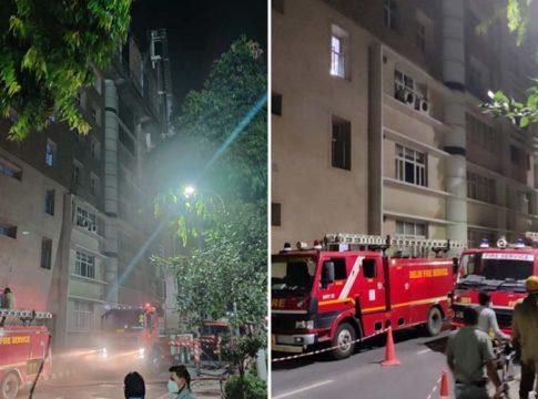 fire broke out at Delhi AIIMS