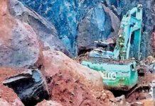 landslide near quarry