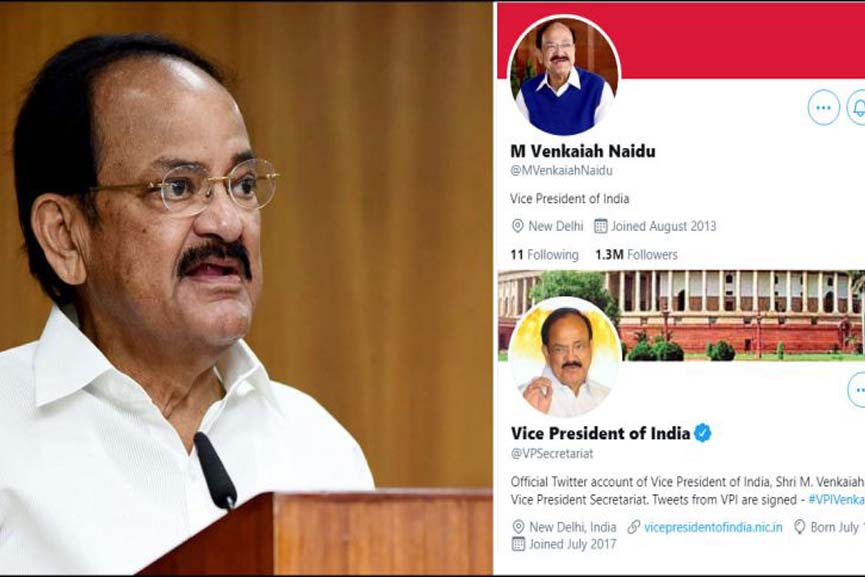 twitter account vice president India