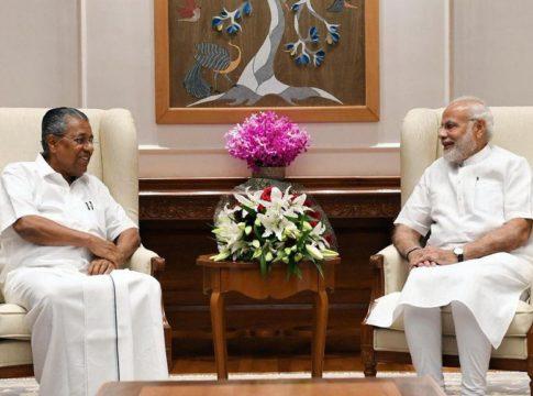 pinarayi vijayan visit narendra modi