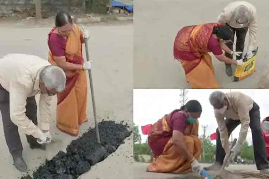 old-couple-spend-their-pension-amount for road repair