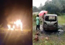 auti caught fire-kannur