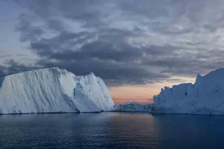 Rain in Greenland icesheet