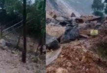 landslide on Munnar Gap Road