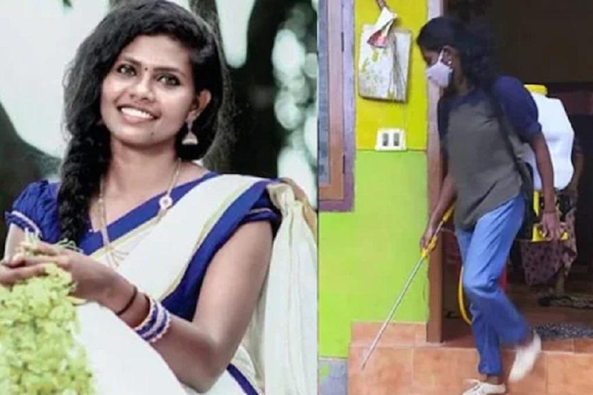 health minister veena george on covid front line worker sr asha's death