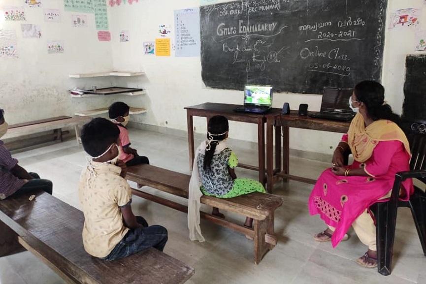 Online education in tribal areas; Proceedings in progress