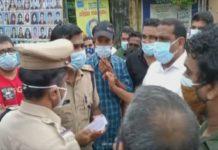traders-police clash-kozhikode