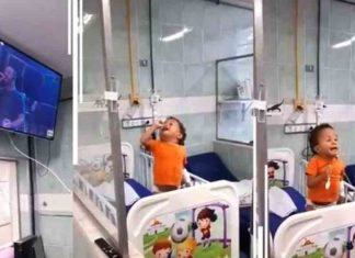 He sang his favorite song in a hospital bed