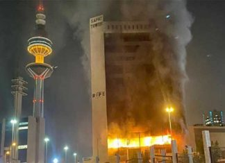 Gas cylinder explodes in Kuwait